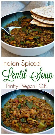 Richly Spiced yet thrifty and easy to make. This vegan lentil soup is a big warm hug in a bowl. Full of delicious and nutritious lentils, tomatoes, greens and other vegetables, this delicious soup will keep you warm and make your heart sing this winter.
