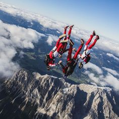 """""""The @redbullskydiveteam and the #Grimming in #niederöblarn are a pretty good…"""