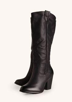 Ingrid Heeled Boots In Black #ruche #shopruche