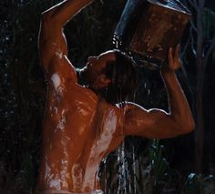 Hugh Jackman in 'Australia'. Such a corny, but appreciated, scene!  haha