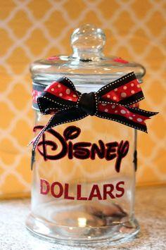 Disney savings jar - Disney vacation - Disney saving ideas - Disney money saving ideas - Disney money saving tips - cute Disney Jar - Saving for Disney Disney Money, Disney Tips, Disney 2017, Walt Disney, Disney Ideas, Disney Cruise, Disney Stuff, Disney World Vacation, Disney Vacations