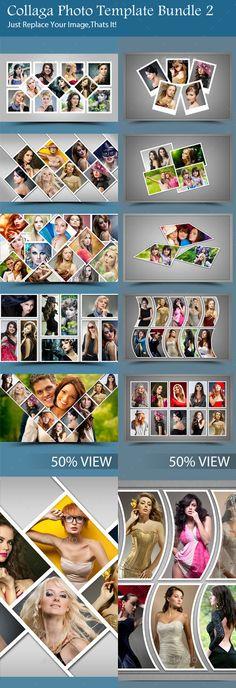 Collaga Photo Template Bundle 2 by ExtremeNoise Photo Collage Design, Photo Collage Template, Indian Wedding Album Design, Wedding Album Layout, Web Design, Graphic Design, Pics Art, Photo Backgrounds, Photo Book