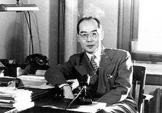 米コロンビア大学の研究室での湯川博士=1951年2月撮影