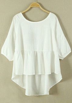 Tips to buy white tops for girls white tops white plain hem irregular loose cotton blend blouse vhxkpud Grunge Look, Grunge Style, 90s Grunge, Soft Grunge, Grunge Outfits, Look Fashion, Womens Fashion, Fashion Trends, Summer Outfits