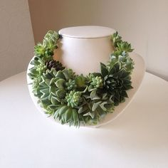 Succulent Necklace by Passion Flower - The Southern C, southern recipes,travel and southern cuisine