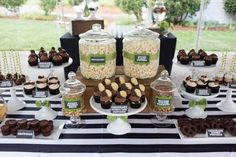 19 chocolate dessert bar for a man 50th birthday party - Shelterness