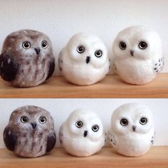 Parent-child like  # wool felt # wool felt classroom # wool felt works Owl #needlefelting # Owl #handmade # handmade