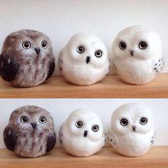 Parent-child like  # wool felt # wool felt classroom # wool felt works Owl #needlefelting # Owl #handmade # handmade