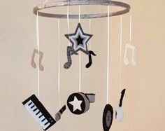 Rock and Roll Baby Mobile  Guitar  Music  Rock and by GraceAnnBaby
