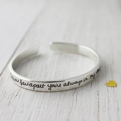 Hey, I found this really awesome Etsy listing at https://www.etsy.com/listing/178800322/handwriting-bracelet-small-cuff