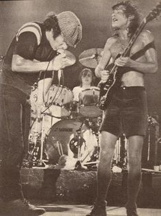 Brian and Angus - AC/DC, 1980