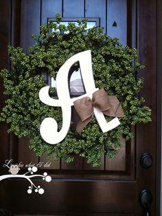 Personalize your front door with a wreath