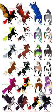 Horse Ocs Sheet 2 (Breedable) by KTLasair.deviantart.com on @DeviantArt