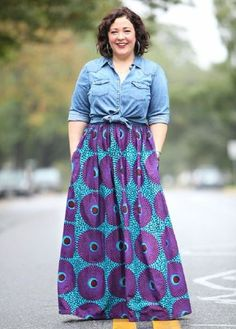 27 Plus Size Skirts Inspiring Ideas. Womens Plus size dress, clothes. Plus size outfit cute patterns inspiration. Womens plus size fashion. Look Plus Size, Plus Size Maxi, Plus Size Skirts, Plus Size Jeans, Maxi Skirt Outfits, Komplette Outfits, Casual Work Outfits, Summer Outfits, Maxi Skirts