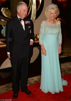 Charles and Camilla attend last night's banquet, where he struck a personal note with his own Commonwealth memories stretching back to his childhood