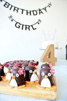 Leuke pinguin traktatie - makkelijk te maken.