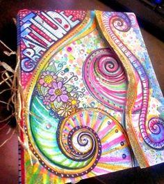 My New Gratitude Art Journal inspired by Valerie Sjodin
