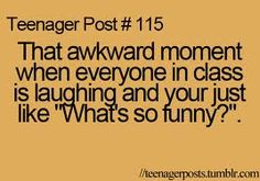 Teen Post-- usually they're laughing at my gullibility... -_- ;)