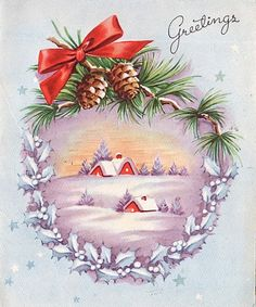Vintage Christmas Greetings, i like this for it's lovely simplicity.