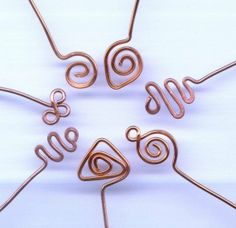 7 Pairs Decorative Copper Head Pins in 7 by SoulofSomanya on Etsy, $10.00