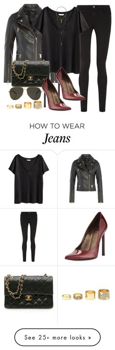 """Style #9448"" by vany-alvarado on Polyvore featuring Karl Lagerfeld, Frame Denim, H&M, Stuart Weitzman, Chanel, Yves Saint Laurent, Relic and Forever 21"