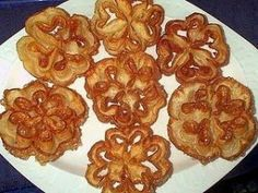 Flores Extremeñas (Receta) Churros, Sugar Cookies, Waffles, Almond, Breakfast, Health, Diy, Food, Gastronomia