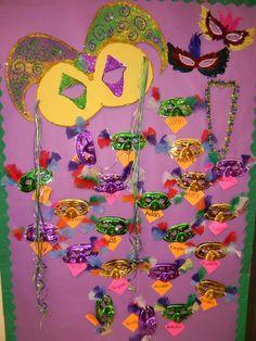 Mardi Gras Preschool Bulletin Board