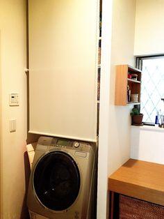 洗面室の全貌公開!収納はやっぱり無印。 | いちごのうた。 - 楽天ブログ Storage, Home, Furnishings, Laundry, Stacked Washer Dryer, Decoracion, House, Home Appliances, Bathroom