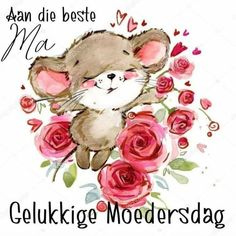 Mothers Day Quotes, Mom Quotes, Happy Mothers Day, Wisdom Quotes, Afrikaans Quotes, Beauty Care, Mom And Dad, Teddy Bear, D1