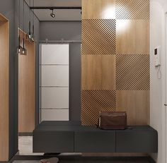 entrance way ideas Beautiful Interior Design, Contemporary Interior, Modern Interior Design, Interior Cladding, Wall Cladding, Foyer Design, Hall Design, Home Interior, Bathroom Interior