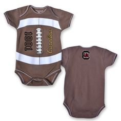 #6)University of South Carolina Gamecock Football Onesie (perfect baby gift for a new little Gamecock)