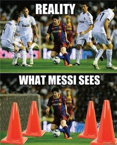I'm not bias towards Ronaldo if I post Messi stuff Messi Neymar Suarez, Cr7 Vs Messi, Messi Soccer, Football Soccer, Club Soccer, Funny Football Memes, Sports Memes, Soccer Humor, Funny Soccer Quotes