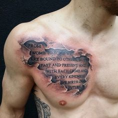 Cloud Atlas quote on Cory Mahon. || Done by Pete Carreno in Franklin, IN at The Great American Tattoo Company