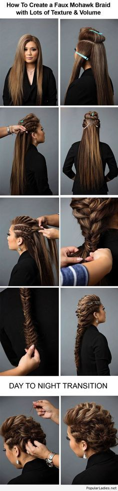 Curly Braided Top Knot Hairstyle Tutorial - Best Women's Hairstyles hair tutorial // how to // braid // day to night Night Hairstyles, Pretty Hairstyles, Romantic Hairstyles, Wedding Hairstyles, Short Hairstyles, Braided Mohawk Hairstyles, Casual Hairstyles, African Hairstyles, Wedding Updo