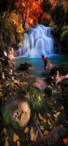 Deep Forest Waterfall, East Asia, Thailand by Structuresxx