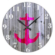 Customizable Painted Anchor clocks from Zazzle. Choose a pre-existing design for your wall clock or create your own today! Wall Clock Design, Wall Clocks, Anchor, Home Decor, Decoration Home, Chiming Wall Clocks, Room Decor, Anchor Bolt, Home Interior Design