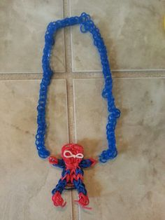 Spiderman necklace - Rainbow Loom