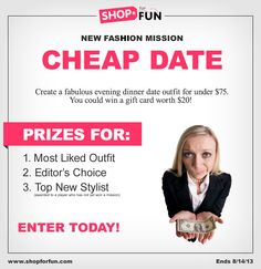 Create a fabulous evening dinner date look for $75 or under for your chance to win an Amazon gift card! #fashion #contest #outfit