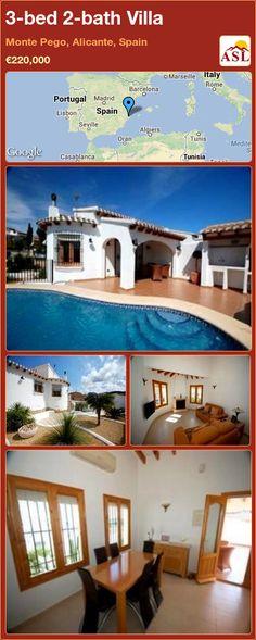 3-bed 2-bath Villa in Monte Pego, Alicante, Spain ►€220,000 #PropertyForSaleInSpain