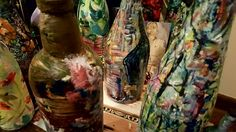 Impressionism by Impressionist FineArtist TuckerDemps.   Original oil on glass bottles.