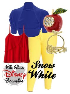"""""""Plus Size Snow White"""" by bgdisneybound on Polyvore featuring CJ by Cookie Johnson, WearAll, JunaRose, Bling Jewelry and plus size clothing"""