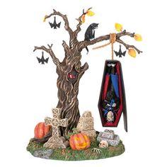 "Department 56: General Village Halloween - ""Rock-A-Bye Vampire"" - #56.53128 - $36.00 - Intro Dec 2003 - Retired Dec 2006"