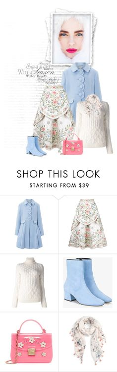 """This Side of Norway"" by seafreak83 ❤ liked on Polyvore featuring Monsoon, Eavis & Brown, Moncler Gamme Rouge, Dorateymur, Furla, Caslon, Bloomingdale's, Winter, white and Blue"