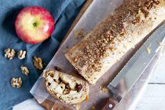 Strudle roulé aux noix et pommes | Recette
