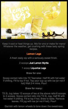 Iced Tea Recipes, Ice T, Keep Cool, Spring Recipes, High Tea, Teas, Tea Time, Brewing, Lemon