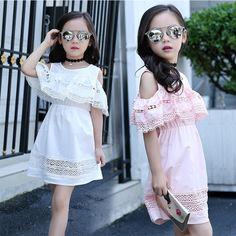 Encontre mais Vestidos Informações sobre Meninas Fora Do Ombro Vestido 2016…