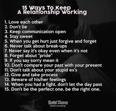 15 waysto a working relationship