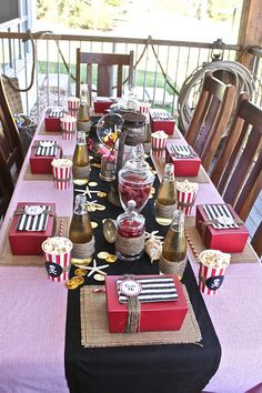 Pirate party - great ideas for the party at this site.