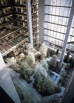 of 5 Projects: Interview 4 / Brian Spring - 17 Ford Foundation Atrium, NYC. Architecture Courtyard, Sustainable Architecture, Landscape Architecture, Interior Architecture, Landscape Design, Renzo Piano, Atrium Design, Louis Kahn, Philip Johnson