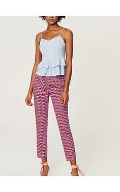 Houndstooth check trousers, New In, pink, RESERVED